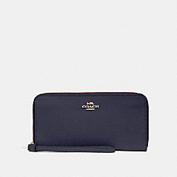 ACCORDION ZIP WALLET - MIDNIGHT/LIGHT GOLD - COACH F24413