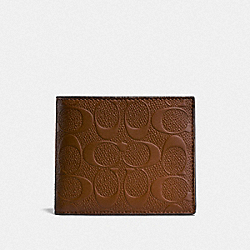 3-IN-1 WALLET IN SIGNATURE LEATHER - SADDLE - COACH F24426