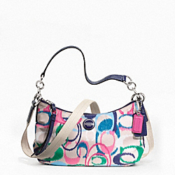 COACH SIGNATURE STRIPE IKAT PRINT DEMI CROSSBODY - ONE COLOR - F24448