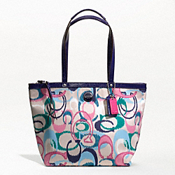 COACH SIGNATURE STRIPE IKAT PRINT TOTE - ONE COLOR - F24450
