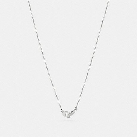 COACH SIGNATURE CHAIN PENDANT NECKLACE - SILVER - F24479