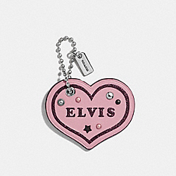 ELVIS™ HEART BAG CHARM - SILVER/BLUSH - COACH F24540