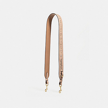 COACH STRAP WITH FLORAL TOOLING - nude pink/imitation gold - f24591