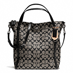 COACH PEYTON SIGNATURE CONVERTIBLE SHOULDER BAG - SILVER/BLACK/WHITE/BLACK - F24601
