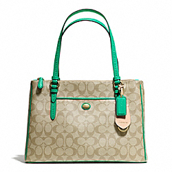 COACH PEYTON SIGNATURE JORDAN DOUBLE ZIP CARRYALL - ONE COLOR - F24603