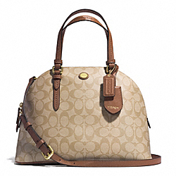 COACH PEYTON SIGNATURE CORA DOMED SATCHEL - B4CZ9 - F24606