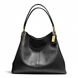 COACH MADISON LEATHER PHOEBE SHOULDER BAG - BRASS/BLACK - F24621