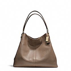 COACH MADISON LEATHER PHOEBE SHOULDER BAG - LIGHT GOLD/SILT - F24621