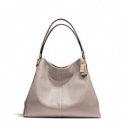 COACH MADISON LEATHER PHOEBE SHOULDER BAG - LIGHT GOLD/GREY BIRCH - F24621
