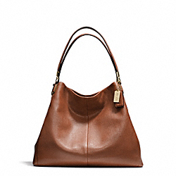 COACH MADISON LEATHER PHOEBE SHOULDER BAG - LIGHT GOLD/CHESTNUT - F24621