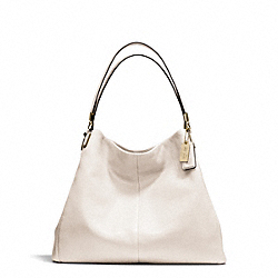 COACH MADISON LEATHER PHOEBE SHOULDER BAG - LIGHT GOLD/PARCHMENT - F24621