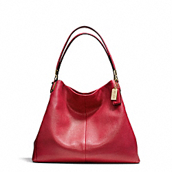 COACH MADISON LEATHER PHOEBE SHOULDER BAG - LIGHT GOLD/SCARLET - F24621