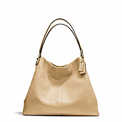 COACH MADISON LEATHER PHOEBE SHOULDER BAG - LIGHT GOLD/TAN - F24621