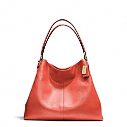 COACH MADISON LEATHER PHOEBE SHOULDER BAG - LIGHT GOLD/VERMILLION - F24621