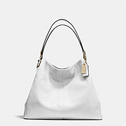 COACH MADISON LEATHER PHOEBE SHOULDER BAG - LIGHT GOLD/WHITE - F24621