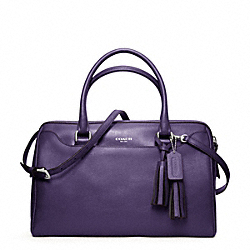 COACH LEATHER HALEY SATCHEL WITH STRAP - ONE COLOR - F24622