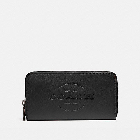 COACH ACCORDION WALLET - BLACK - f24648
