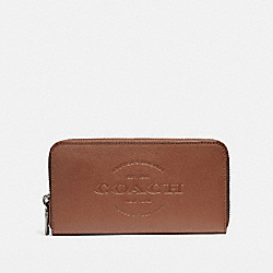 COACH ACCORDION WALLET - SADDLE - F24648