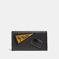 COACH UNIVERSAL PHONE CASE WITH MIXED PATCHES - BLACK - F24650