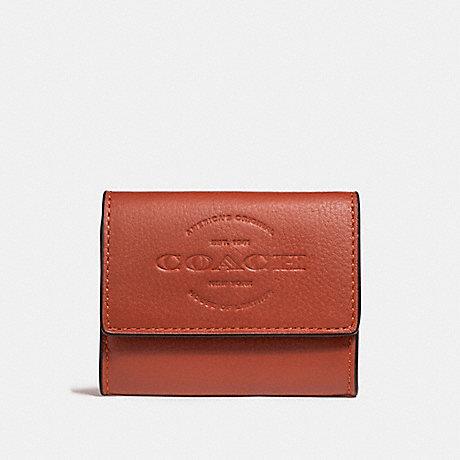 COACH COIN CASE - TERRACOTTA - f24652