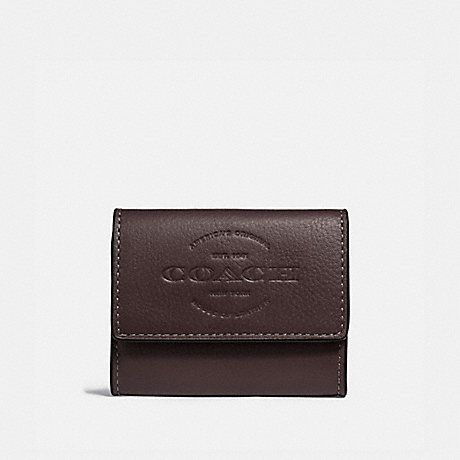 COACH COIN CASE - OXBLOOD/BLACK ANTIQUE NICKEL - F24652