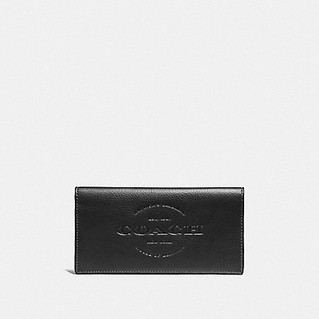 COACH BREAST POCKET WALLET - BLACK - f24653