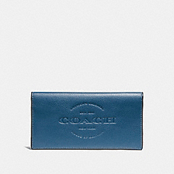 COACH BREAST POCKET WALLET - DENIM - F24653