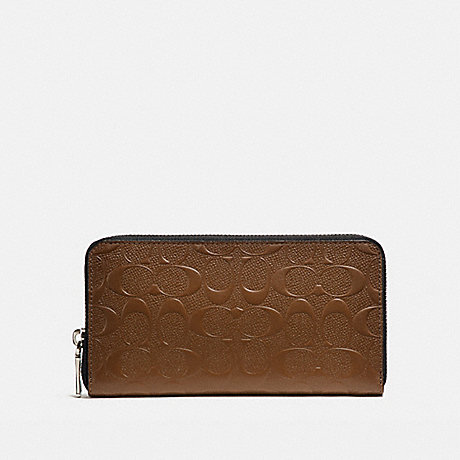 COACH ACCORDION WALLET IN SIGNATURE LEATHER - SADDLE - f24667