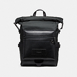 TERRAIN ROLL TOP BACKPACK - BLACK/BLACK ANTIQUE NICKEL - COACH F24676