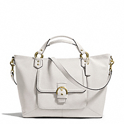 COACH CAMPBELL LEATHER IZZY FASHION SATCHEL - BRASS/IVORY - F24683