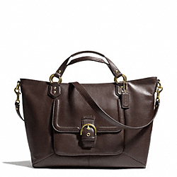 COACH CAMPBELL LEATHER IZZY FASHION SATCHEL - BRASS/MAHOGANY - F24683