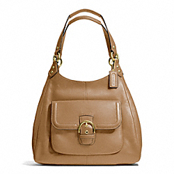 COACH CAMPBELL LEATHER HOBO - BRASS/CAMEL - F24686