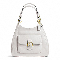 COACH CAMPBELL LEATHER HOBO - BRASS/IVORY - F24686