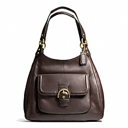 COACH CAMPBELL LEATHER HOBO - ONE COLOR - F24686