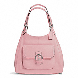 COACH CAMPBELL LEATHER HOBO - SILVER/PINK TULLE - F24686
