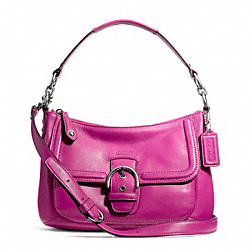 COACH CAMPBELL LEATHER SMALL CONVERTIBLE HOBO - ONE COLOR - F24687