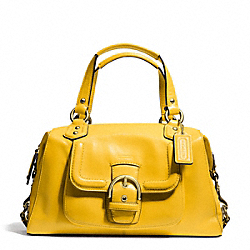 COACH CAMPBELL LEATHER SATCHEL - BRASS/SUNFLOWER - F24690
