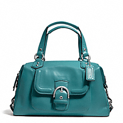 CAMPBELL LEATHER SATCHEL - f24690 - SILVER/MINERAL