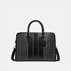 BOND BRIEF WITH HERRINGBONE PRINT - NINI7 - COACH F24718