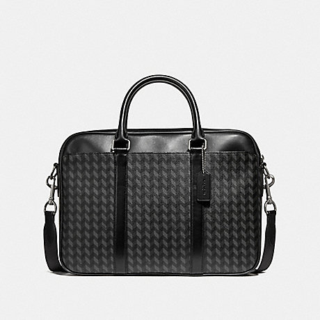 COACH PERRY SLIM BRIEF WITH HERRINGBONE PRINT - NINI7 - f24722
