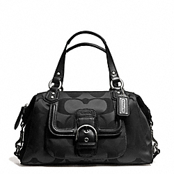 CAMPBELL SIGNATURE SATCHEL - SILVER/BLACK - COACH F24741