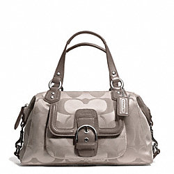 COACH CAMPBELL SIGNATURE SATCHEL - SILVER/TEA - F24741