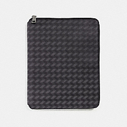 TECH CASE WITH HERRINGBONE PRINT - f24743 - BLUE/CREAM