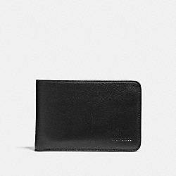 COACH SLIM TRAVEL WALLET - BLACK - F24749