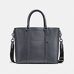 METROPOLITAN TOTE - GRAPHITE/OXBLOOD/BLACK ANTIQUE NICKEL - COACH F24772