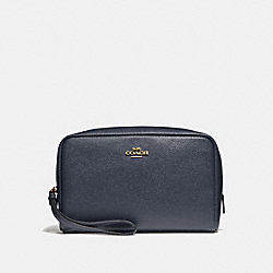 COACH BOXY COSMETIC CASE 20 - MIDNIGHT/LIGHT GOLD - F24797