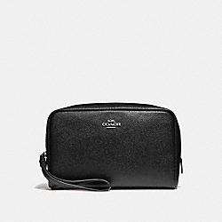COACH BOXY COSMETIC CASE 20 - BLACK/SILVER - F24797