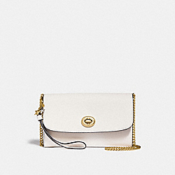 COACH CHAIN CROSSBODY WITH CHARMS - CHALK/LIGHT GOLD - F24802