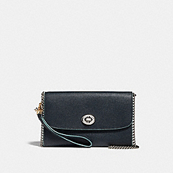 COACH CHAIN CROSSBODY WITH CHARMS - MIDNIGHT NAVY/SILVER - F24802