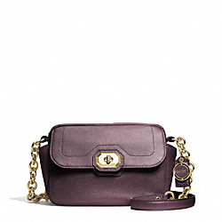 COACH CAMPBELL TURNLOCK LEATHER CAMERA BAG - BRASS/PLUM - F24843